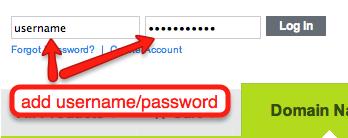 add username password