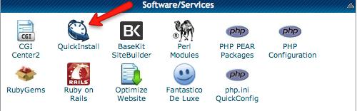 click quick install