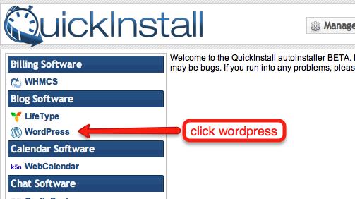 click wordpress
