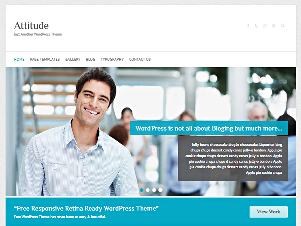 attitude wordpress theme