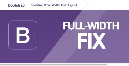 bootstrap 3 full width fluid layout