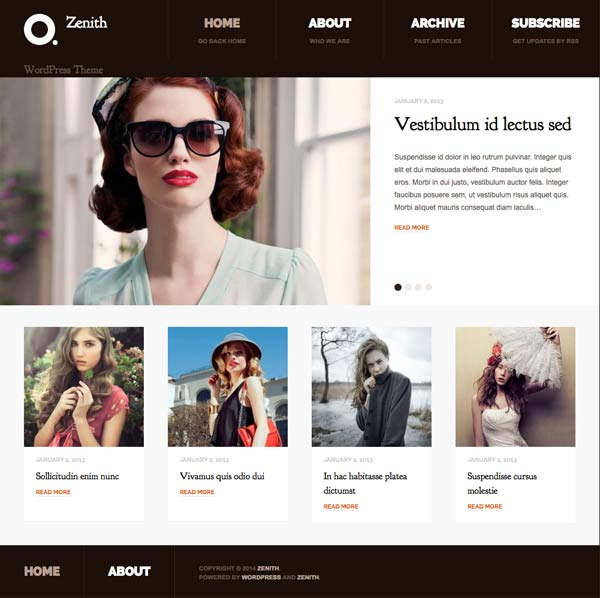 zenith wordpress theme
