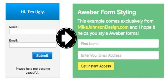 styling aweber forms twitter bootstrap